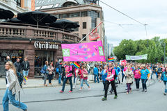 Europride parade in Oslo ys Stock Photography