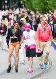 Europride 2014 pary mienia ręki na paradzie Obraz Royalty Free