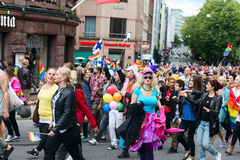 Europride 2014 People on pride parade in Oslo Stock Photos