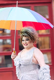 Europride 2014 Portrait of a lady with ambrela Stock Image