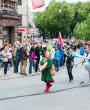 Europride 2014 In sami national dress Royalty Free Stock Image