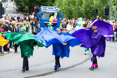 Europride 2014 Three ladies on parade Royalty Free Stock Photo