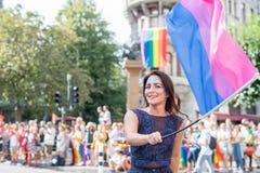 EuroPride 2018 z Sztokholm dumy paradą Zdjęcie Stock