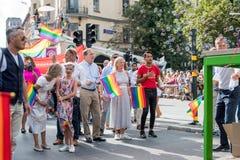 EuroPride 2018 z Sztokholm dumy paradą Obraz Stock