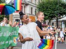 EuroPride 2018 z Sztokholm dumy paradą Obraz Royalty Free