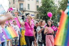 EuroPride 2018 z Sztokholm dumy paradą Zdjęcia Royalty Free