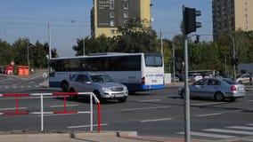 Europska和Veleslavinska街道交叉路在布拉格 影视素材