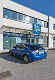 Europspin discount store in Gemona, Italy. Royalty Free Stock Image