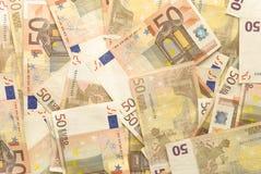 Euroräkningar - 50 Royaltyfri Foto
