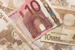 Euroräkningar - 10 Arkivfoto