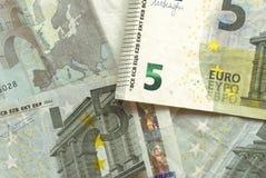 Euroräkningar - 5 Arkivbild