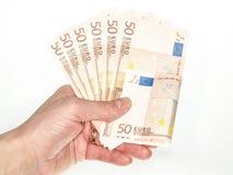 50 euroräkningar Royaltyfri Bild