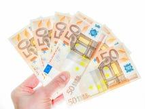 50 euroräkningar Arkivbild