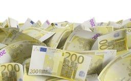 200 Euroräkningar Fotografering för Bildbyråer