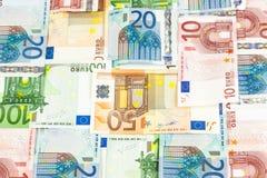 Euroräkningar, mönstrar Royaltyfria Foton