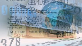 Euroräkningar och manöverenhetskoder royaltyfri illustrationer