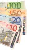 Eurorechnungen Stockfoto