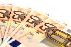 Eurorechnungen Lizenzfreies Stockbild