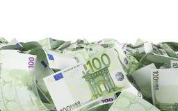 100 Eurorechnungen Stockfotografie