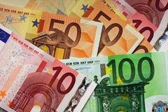 Eurorechnungen Stockfotografie