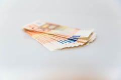 50 Eurorechnungen Stockfoto