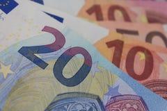 Eurorechnungen, europäische geld- Euros Stockfotos