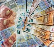 Eurorechnungen, Geld Lizenzfreie Stockfotografie