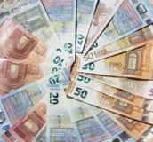 Eurorechnungen, Geld Lizenzfreies Stockfoto