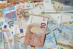 Eurorechnungen, Geld Stockfoto