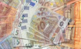 Eurorechnungen, Geld Lizenzfreies Stockbild