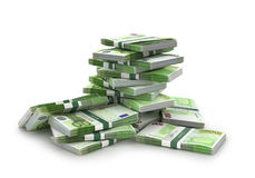 Eurorechnungsstapel Lizenzfreies Stockfoto