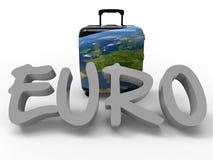 Euroreisekonzept stock abbildung