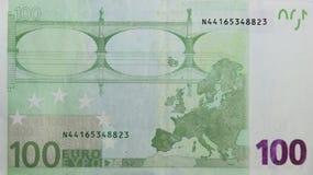 100 euros Fotografía de archivo