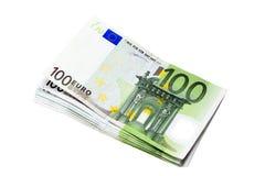 Euros Imágenes de archivo libres de regalías