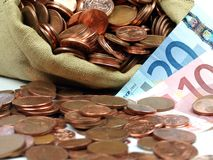 Euros imagen de archivo