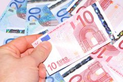 10 Euros Stockfoto