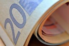 20 euros Arkivbilder