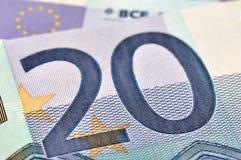 20 euros Arkivbild