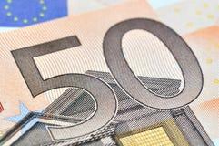 50 euros Arkivbild