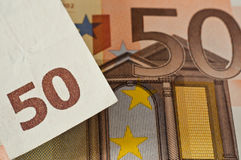 50 euros Royaltyfri Fotografi