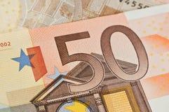 50 euros Arkivfoton