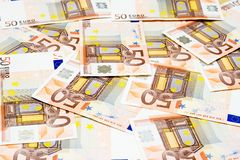 Euros. Bills Stock Photo