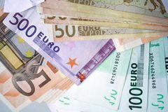 Euro bank notes  background Stock Images