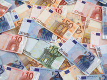 Euros Background Stock Image