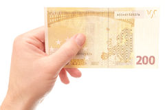 200 euros (backside version) Royalty Free Stock Photo