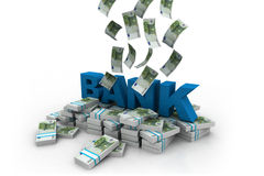 Euros with  bank Royalty Free Stock Images