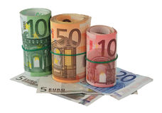 Euros banknotes Stock Image