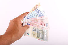Euros banknotes Royalty Free Stock Photography