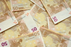 50 euros bills Stock Photography