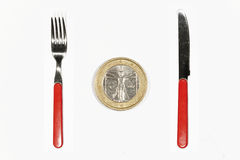 Euros for breakfast Stock Images